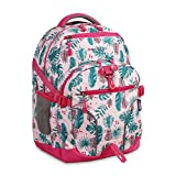 J World New York Atom Multi-Compartment Laptop Backpack, Palm Leaves, One Size