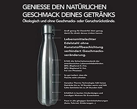 Thermosflasche Edelstahl Isolierflasche THEBOTTLE Xanadoo Kohlensäure Getränke