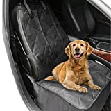 aLLreLi Dog Front Seat Cover for Cars – Black, WaterProof & Nonslip Backing For Sale