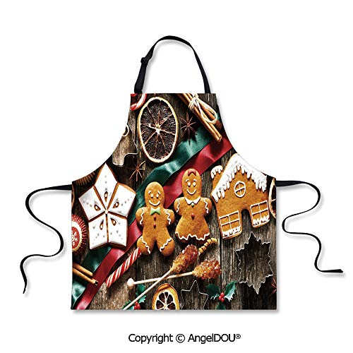 SCOXIXI Printed Kitchen Apron for Woman Man Delicious Homemade Cookies Dried Fruits and Bakery Tools Festive Rustic Decorative Waterproof Aprons for Restaurant BBQ Grill. -