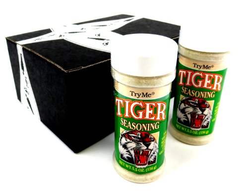 TryMe Tiger Seasoning, 5.5 oz Bottles in a Gift Box (Pack of 2)
