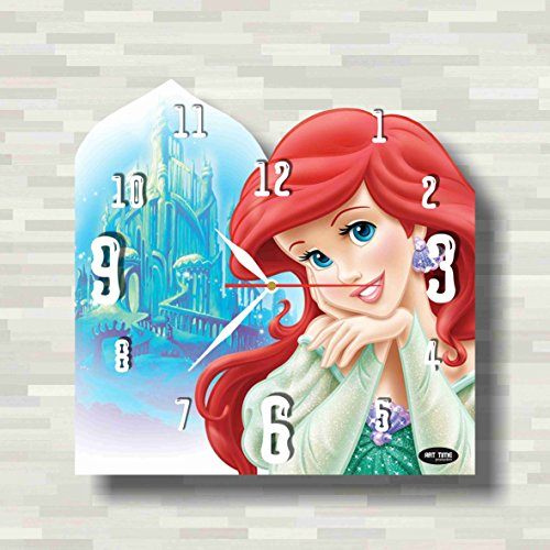 Cogsworth Costume Kids (Ariel - Little Mermaid 11.8'' Handmade unique Wall Clock - Get unique décor for home or office – Best gift ideas for kids, friends, parents)