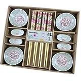 Product review for Wedding Business Gift Home Flatware Set Chopsticks/Holder/Irregular Dish 12PCS-Peony