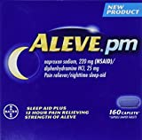 Aleve PM 160 Caplets Total Naproxen Sodium 220mg NSAID / Diphenhydramine 25 mg (Nighttime Sleep-Aid) Total 2 Bottles Each Bottle Contains 80 Pills