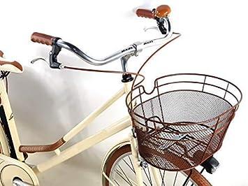 Promoción/Bicicleta Clásico Vintage Mujer con Bolsas y Cesta ...