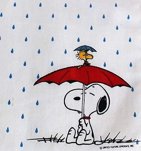 (Peanuts Vintage Snoopy Cotton Handkerchief Hankie and Card)