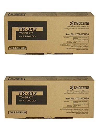 (Kyocera TK-342 (TK342) Black Toner Cartridge 2-Pack for FS-2020DN)