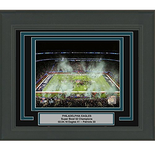 Framed Philadelphia Eagles Super Bowl 52 Champions Celebration 8x10 Football Photo Professionally Matted #2