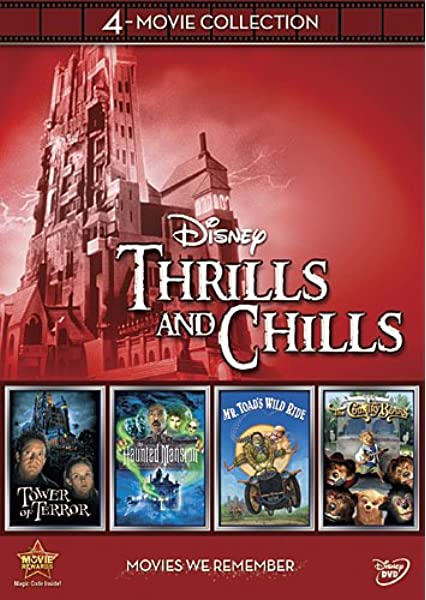 Amazon Com Disney 4 Movie Collection Thrills And Chills Haunted Mansion Tower Of Terror Mr Toad S Wild Ride Country Bears Disney 4 Movie Collection Movies Tv