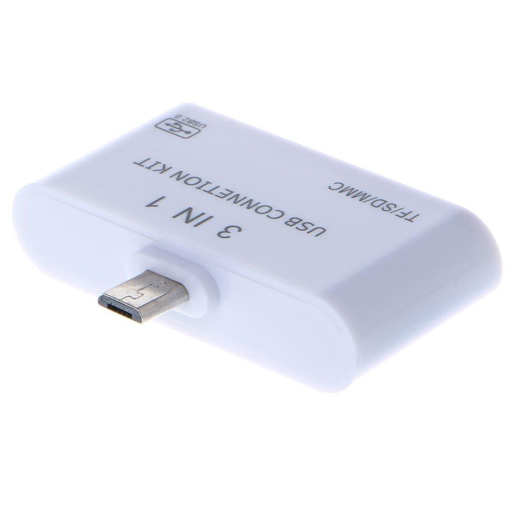 Ranuw 3 In 1 OTG Micro USB 2.0 SD//TF//MMC Card Reader USB Charging Adapter For Samsung