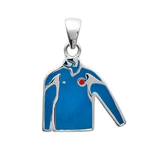 So Chic Joyas© colgante email – Camiseta deporte selección fútbol RUGBY azul plata 925