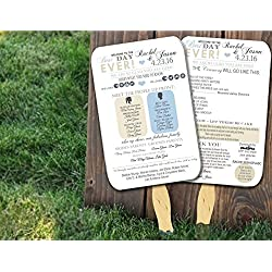 Personalized Wedding program fans Wedding Programs Wedding Fans ANY COLOR