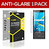 SOJITEK BlackBerry Android Priv Premium Anti-Glare Anti-fingerprint Matte Screen Protector [1 Pack] Lifetime Replacements Warranty + Retail Packaging
