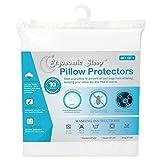 Ergonomic Sleep Erpp-3620K Premium Hypoallergenic 100% Waterproof Cotton Pillow Protector/Cover/Encasement (1), King