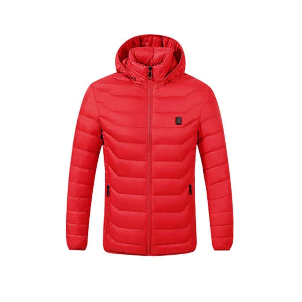 Hook.s Elektrische Heizungs-Kleidungs-Jacke, Wasserdichte USB Aufladbare elektrische mit Kapuze Baumwolle erhitzte Winter-warme Kleidung
