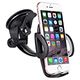 Car-Accessory Car Phone Mount, Windshield Dashboard Phone Holder for Car with Strong Suction Cup for iPhone X 8 8 Plus 7 7 Plus 6s 5s, Samsung Galaxy S9 S8 S8 Plus S7 and More Smartphones