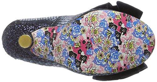 Irregular Choice Ascot Noir Or Femmes Talons Court Chaussures