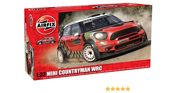 Amazon.com: Airfix A03414 Mini Countryman WRC Set, 1:32 Scale: Toys & Games