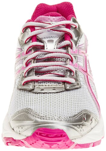 Asics Gel Galaxy 4 Gs Synthetic, Zapatillas de Atletismo Adultos Unisex Plateado - Silver/Charcoal/Pink