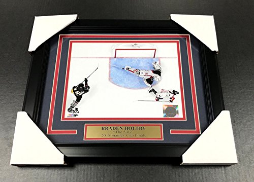 BRADEN HOLTBY THE SAVE WASHINGTON CAPITALS 8X10 FRAMED #2 2018 STANLEY CUP