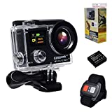 Campark 4K Sports Action Camera dual Screen 1080p 60fps,wifi,waterproof, RF Remote Control,Color Pacakage with Shockproof case included Action Cameras CAMPARK