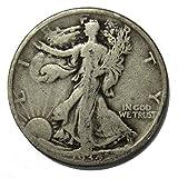 #6: 1934 D Walking Liberty Half Dollar 50c Average Circulated