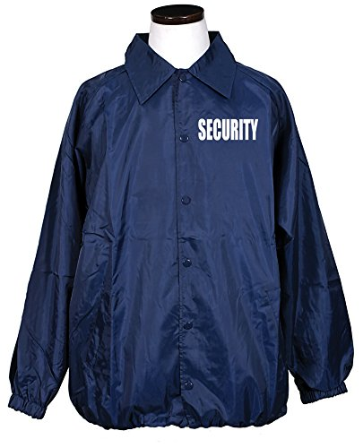 First Class 100% Nylon Windbreaker with Securtiy I.D. (Navy (Security Windbreaker)