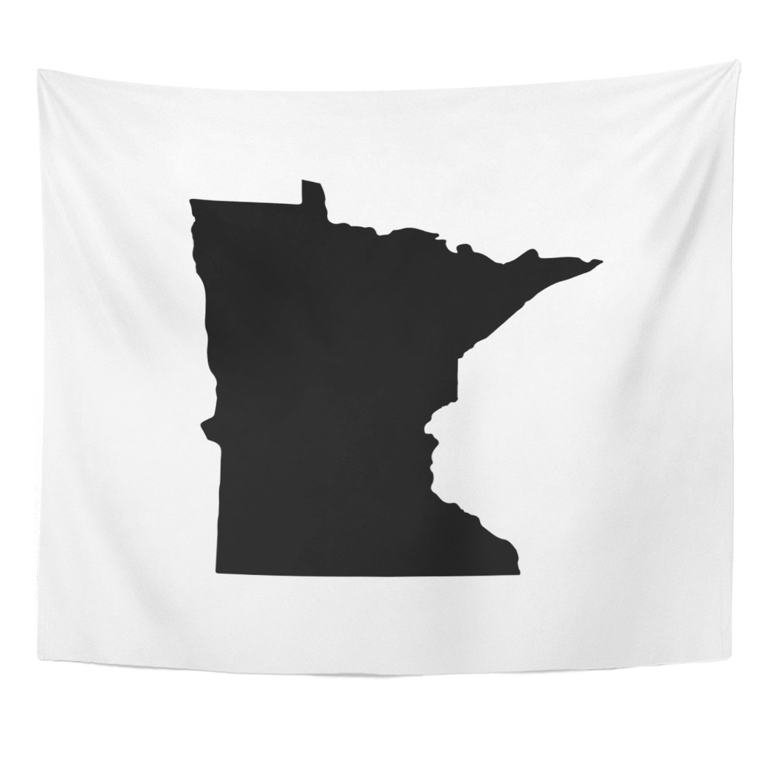 Emvency Tapestry Abstract Map of The U State Minnesota on America Home Decor Wall Hanging for Living Room Bedroom Dorm 50x60 inches