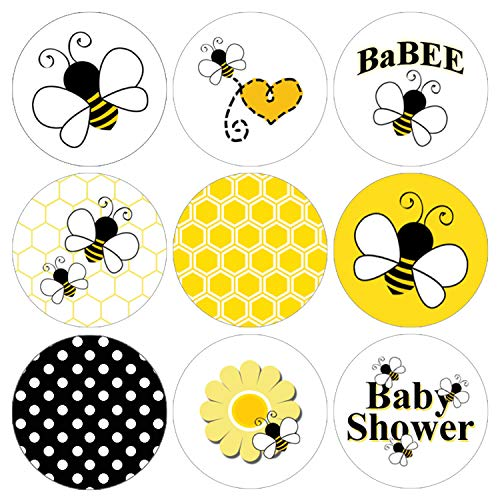 Bumble Stickers Bee - Bumble Bee Baby Shower Favor Labels | 216 Stickers