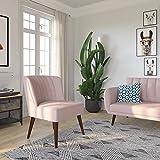 Novogratz Brittany Upholstered Accent, Pink Linen