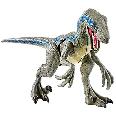 Jurassic World Battle Damage Velociraptor Blue: Toys & Games