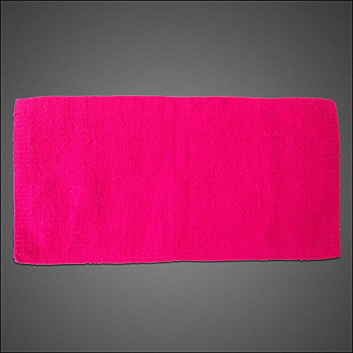 HILASON Western Acrylic Wool Saddle Blanket Horse Rodeo Solid Color HOT Pink