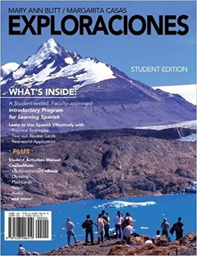 Exploraciones With Student Activities Manual And Spanish CourseMate Printed Access Card World Languages 1st Edition