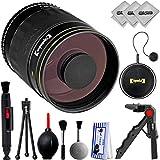 Opteka 500 mm f/8 enfoque manual de alta definición Telephoto Deportes & Vida Salvaje lente espejo para Canon EOS 80D, 77D, 70D, 60D, 7D, 6D, 5D, 7D Mark II, T7i, T6s, T6i, T6, T5i, SL1 y SL2 cámaras réflex digitales