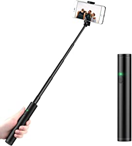 Selfie Stick Bluetooth, Compact Cell Phone Selfie Stick Android, Light Weight Mini Wireless Selfie Stick for iPhone 6 7 8 Plus XS Max 11 Pro Max XR Galaxy S8 Plus Note 9 10 and More
