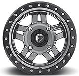 fuel anza wheels - Fuel Anza 14x7 ATV/UTV Wheel - Gunmetal (4/156) 4+3 [D5581470A544]