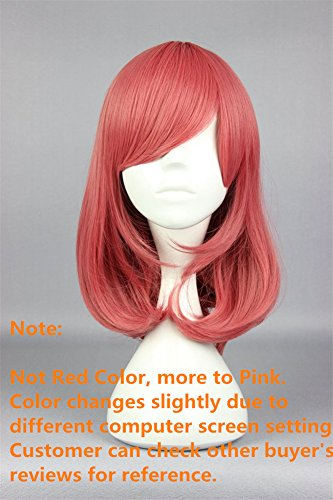 COSPLAZA Cosplay Wigs Halloween Party Hair Synthetic Wig Heat Resistant Watermelon Pinky by COSPLAZA (Image #1)