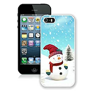 Customized Iphone 5S Protective Cover Case Christmas Snowman iPhone 5 5S TPU Case 5 White