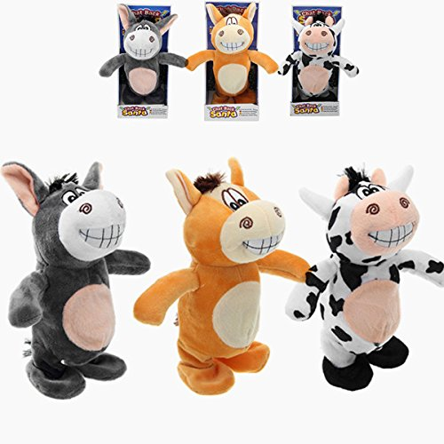 Peluche de Vaca Que Camina Electronic Cow móvil Soft Toy Kids Gift