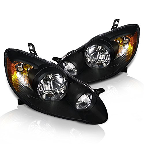 Instyleparts Toyota Corolla Clear Lens Headlights with Black -