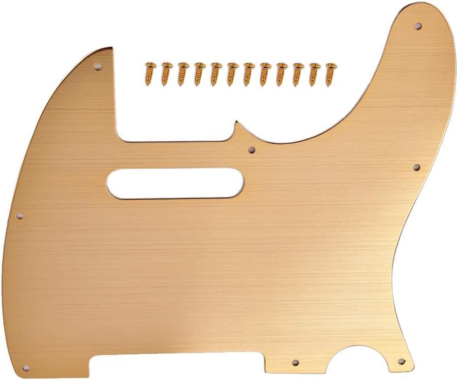 SUPVOX 8 agujeros aleación de aluminio Tele guitarra Golpeador Scratch placa se adapta a los EE.UU. mexicanos estándar dorado