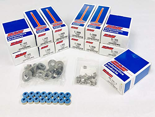 Chevy GMC 350 5.7 5.7L VORTEC Engine VALVE Train Kit. Valves+Springs+Retainer+Locks+Studs (Stock Replacement)