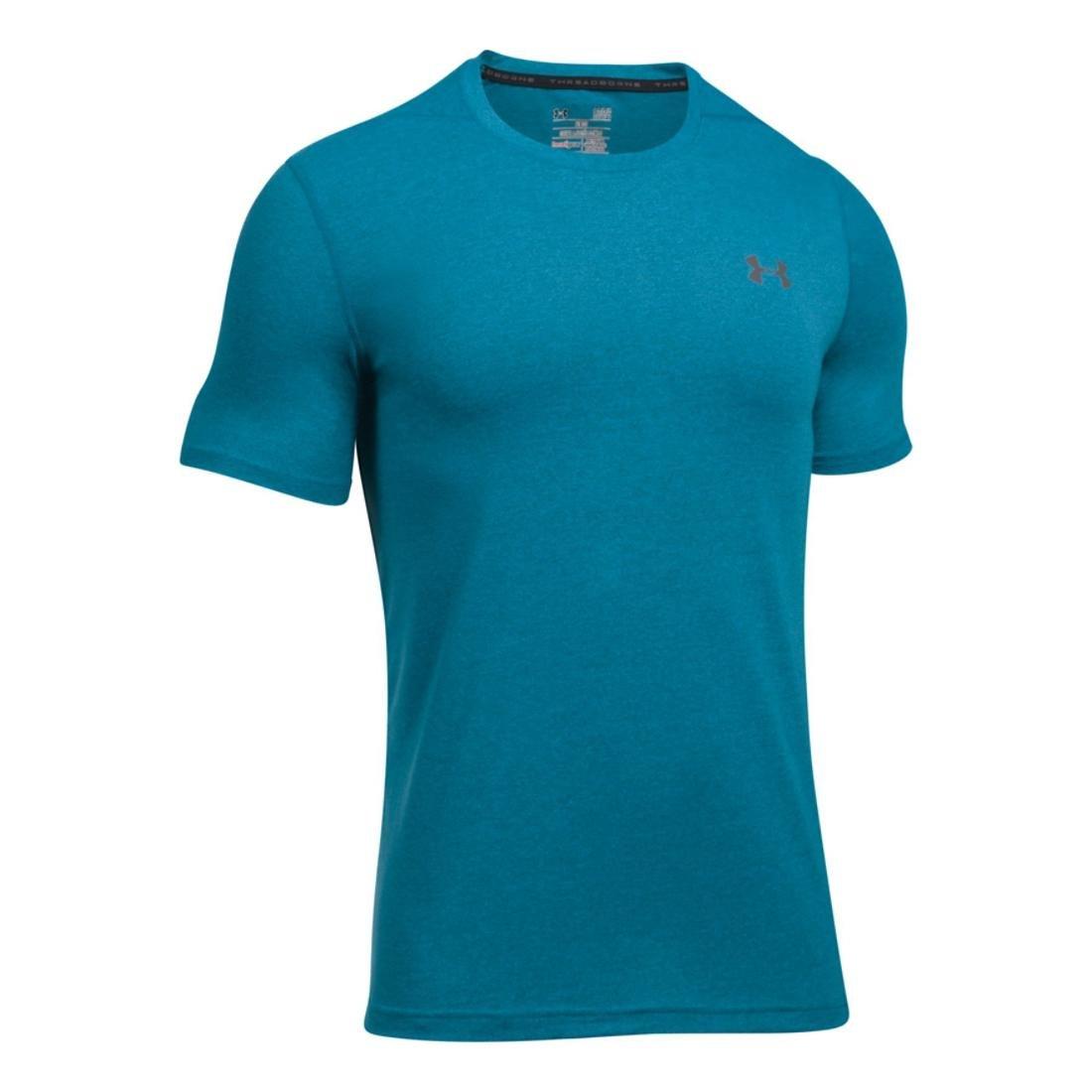 Under Armour Men/'s SMALL Threadborne Seamless SS T-Shirt BLUE Cycling Jersey