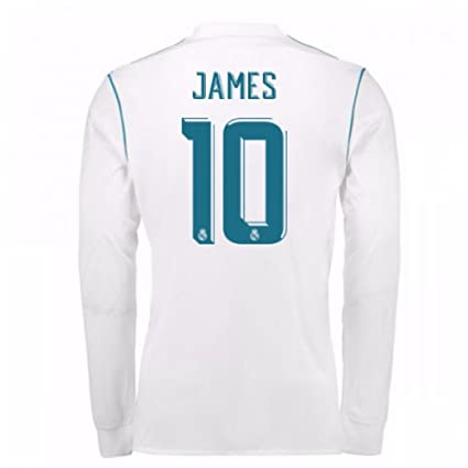 promo code 1651e c0e73 Amazon.com : 2017-18 Real Madrid Long Sleeve Home Football ...