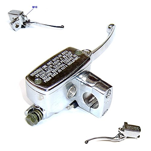 (HYDRAULIC BRAKE MASTER CYLINDER *RIGHT* FOR RETRO TYPE CHINESE SCOOTER WITH LEVER AND M10 MIRROR HOLDER GY6 4 STROKE SCOOTER ZNEN LANCE BMS TNG BENZHOU BELLO .....)