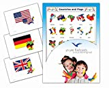 Continents, Countries and Flags Flashcards - Vocabulary Picture Cards