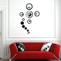 WinnerEco 3D DIY Modern Design Frameless Large Wall Clock for Living Room Home Decor