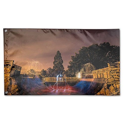 YUANSHAN Home Garden Flag Electric Skate Park Polyester Flag