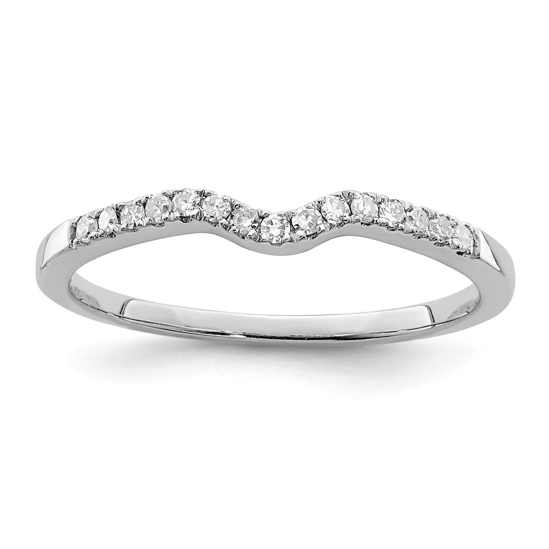 925 Sterling Silver Diamond Wrap Band Ring Size 7.00 Fine Jewelry Gifts For Women For Her