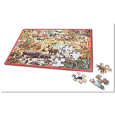 AFRICAN PARADISE FRAME TRAY 60 PIECE PUZZLE: Toys & Games